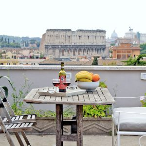 Rome Apartment Terrace View