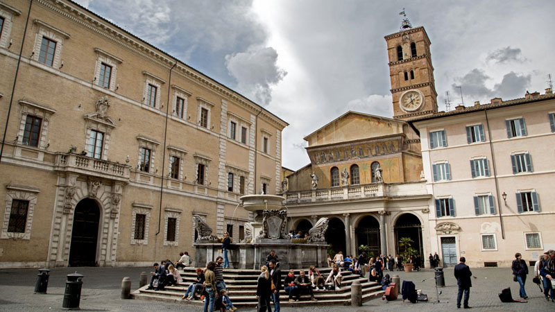 Fascinating Jewish-Ghetto Trastevere and Tiberina Island Santa Maria in Trastevere