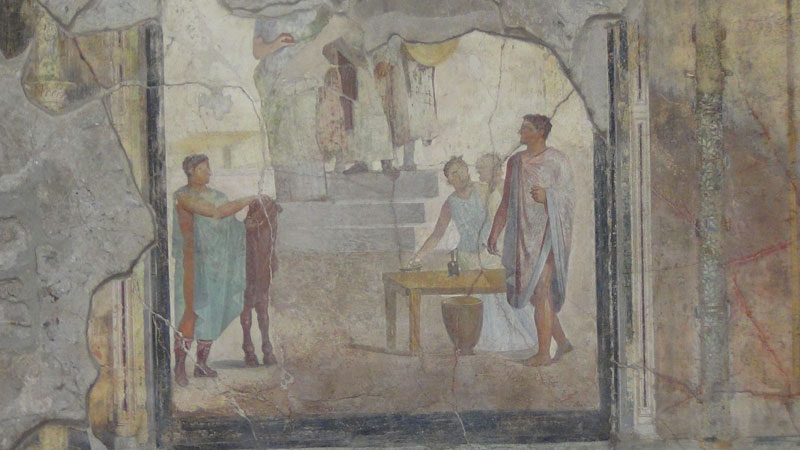 ancient pompeii naples guided group tour fresco