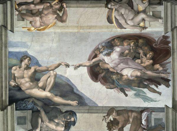 fresco creation of adam sistine chapel